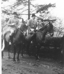 1957 Uncle Bob and Pop going hunting 2